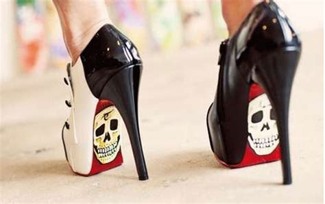 skull shoes skull stilettos