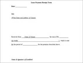 Lease Payment Sle Lease Payment Receipt Form Sle Forms