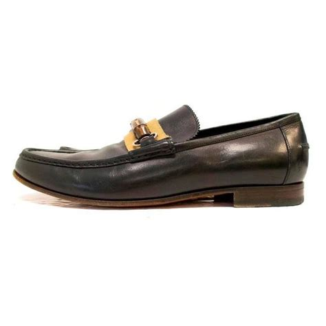 gucci loafers for sale gucci black leather loafers with bamboo buckle for sale at
