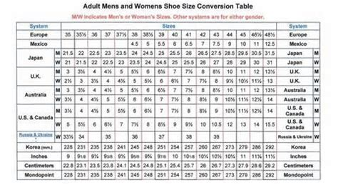 shoe size chart ee 1000 images about shoes tips tricks quick fixes on