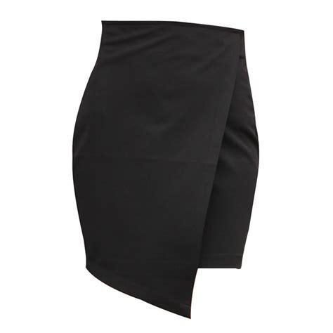 high waisted asymmetrical wrap skirts white black
