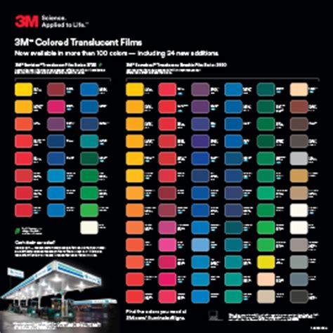 3m vinyl wrap color chart 3m premium scotchcal 7125 and