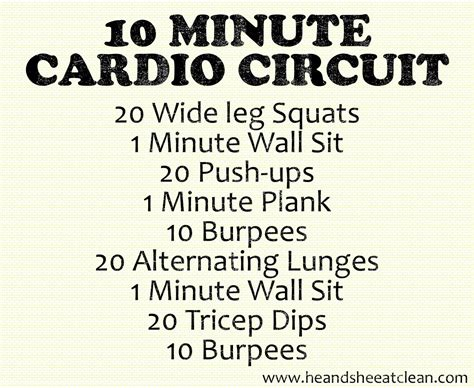 cardio workouts for at home without equipment www