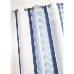 rideau raye bleu et blanc