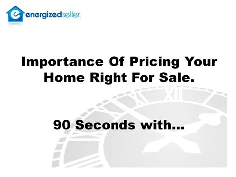 home property value importance of pricing your home