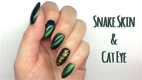 eye nail art tutorial cat eye snake skin nail art tutorial my wonderland