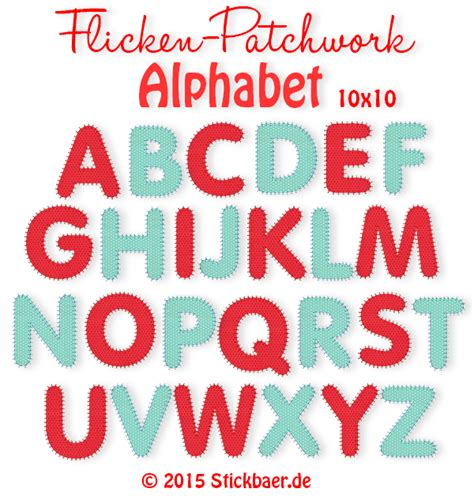 Patchwork Letters Template - der stickb 228 r flicken patchwork alphabet stickmuster