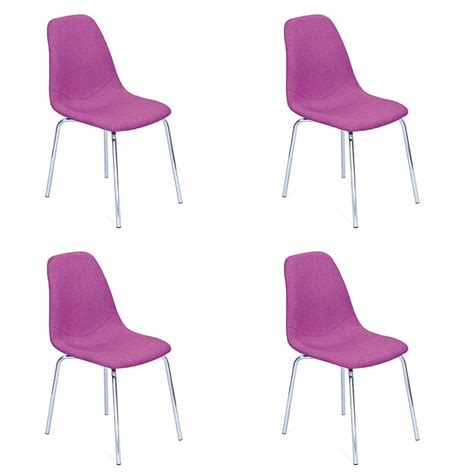 lot de 4 chaises design quot pulp quot violet