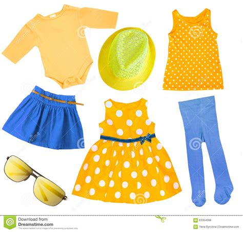 summer clothes child bright summer clothes isolated stock photo