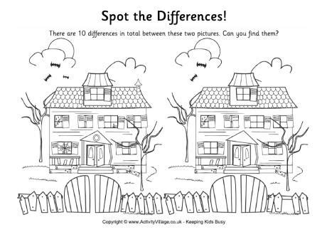 find a house find the differences haunted house