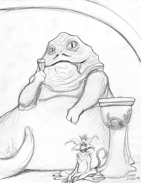 coloring pages jabba the hutt jabba the hutt by aokibengal on deviantart