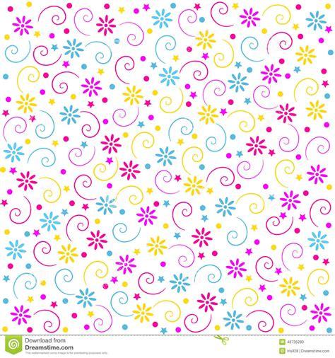 seamless pattern birthday birthday celebration and party seamless pattern stock