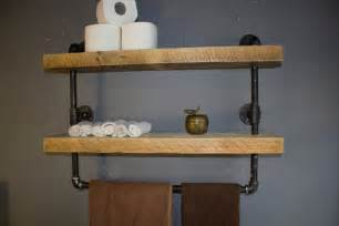 Shelving Bathroom Industrial Pipe Shelf Bathroom Shelves Kitchen By Reclaimedwoodusa