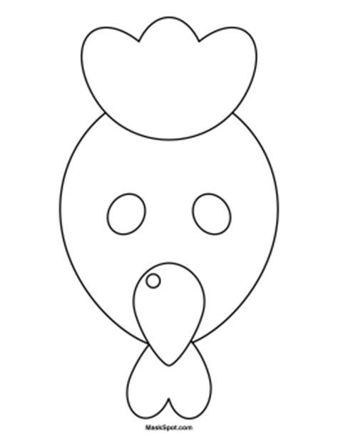 printable chicken mask