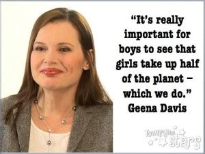 Raising Boys Meme - quote by geena davis if you risk nothing then you risk