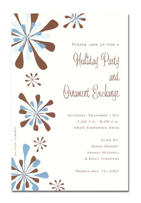 best simple religious christmas holiday party invitation