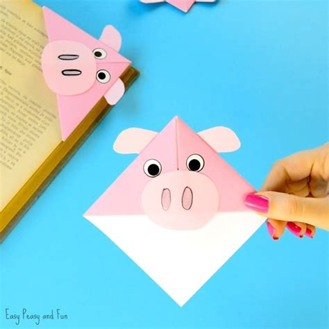 bookmark craft for pig corner bookmarks easy peasy and