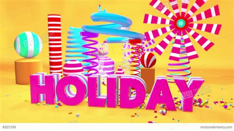 design elements of motion media and information holiday motion graphics playground 3d stock animation