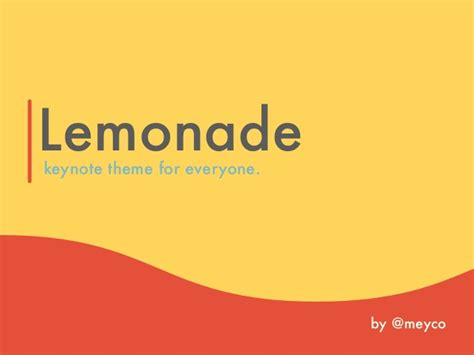 keynote theme change lemonade original keynote theme