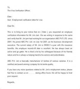 employment verification letter purpose 1