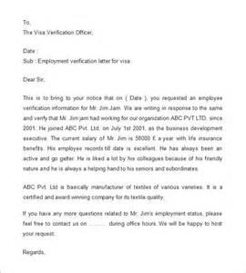 employment verification letter purpose 1