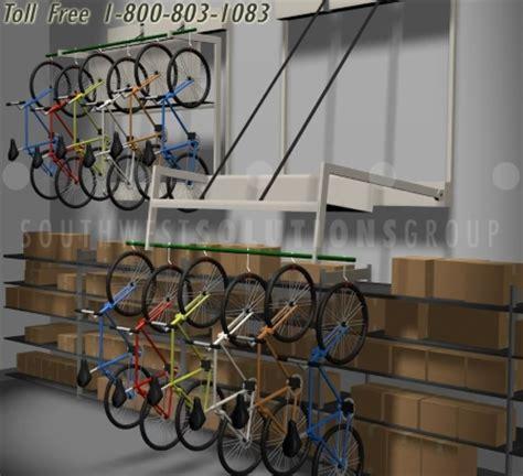 Bike Racks San Diego by Wall Mounted Hanging Bicycle Racks Los Angeles Push