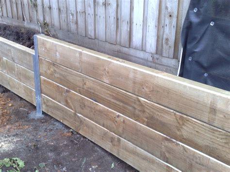 timber retaining wall outdoor ideas pinterest
