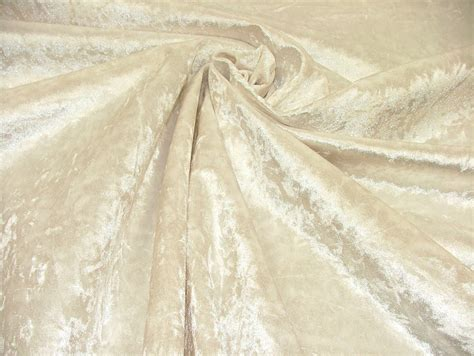 Crushed Velvet Fabric For Curtains Bling Crushed Velvet In White Fabric Ideal For Curtain Upholstery Cushions Blinds