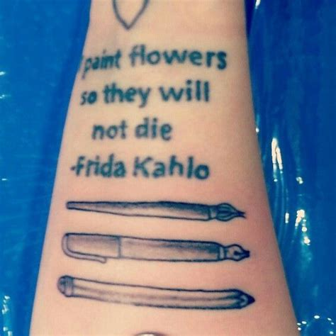 tattoo me pen paintbrush pen pencil tattoo tattoos pinterest