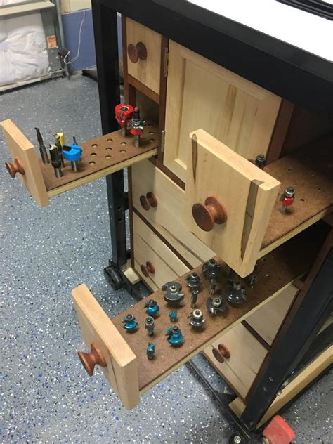 router table storage  shop wood talk
