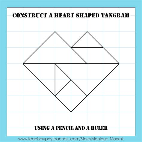 pattern shape puzzle colorful tangrams valentine s day heart tangram patterns