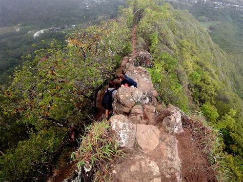 Kupluk Hiking 6 In 1 oahu olomana hike challenging a rock climbing and 1 400 of elevation in 1 mile
