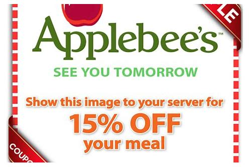 applebees free entree coupon