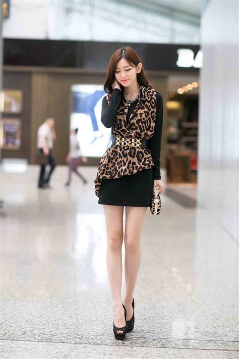 Dress Dress Korea Baju Korea 122 mini dress motif leopard korea 2015 myrosefashion