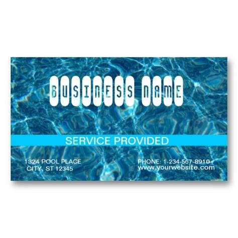 Swimming Pool Business Cards Templates 1000 images about swimming pool business cards on