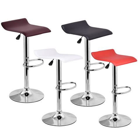 Modern Leather Bar Stools by 1 Pc Modern Leather Bar Stool Adjustable Swivel Diner Counter Chair Multi Color Ebay