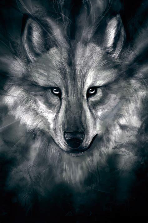 freeios wolf face story parallax hd iphone ipad wallpaper