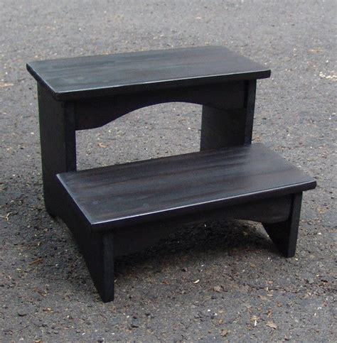 Black Step Stool Wood by Handcrafted Heavy Duty Step Stool Wood Bedside Bedroom