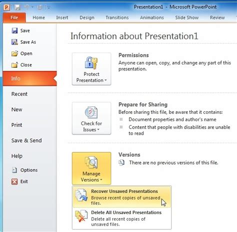 how to recover powerpoint presentation files