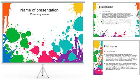 painting template paint powerpoint template backgrounds id 0000000791