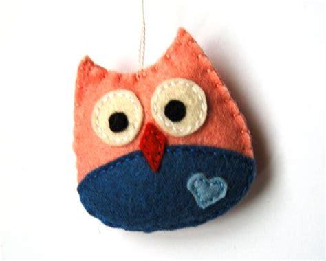Handmade Owl Ornaments - tiny felt owl ornament handmade felt ornaments owl for
