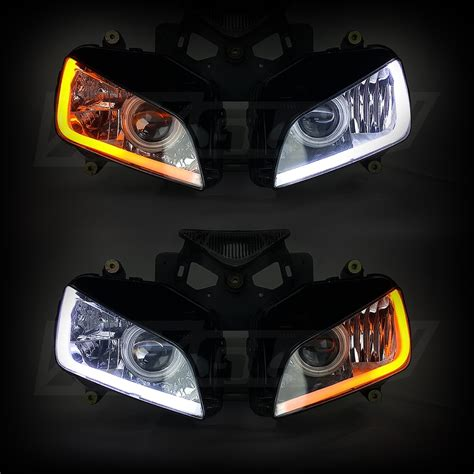 led light strips for car headlights xkglow sequential switchback drl led turnsignal for headlights