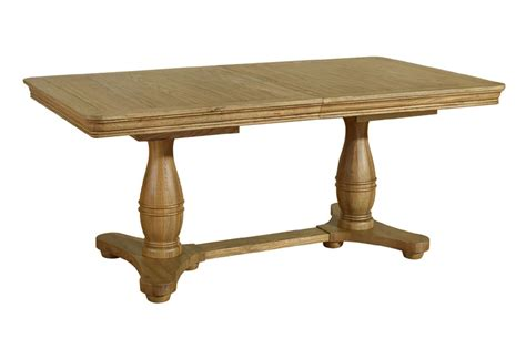 extending dining table loire oak twin pedestal extending dining table