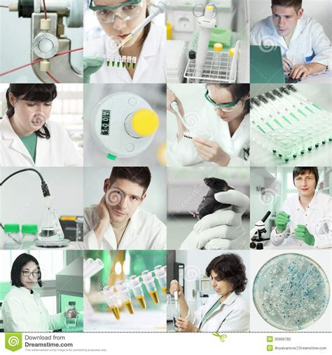 tinted image scientists work in laboratory stock photography image