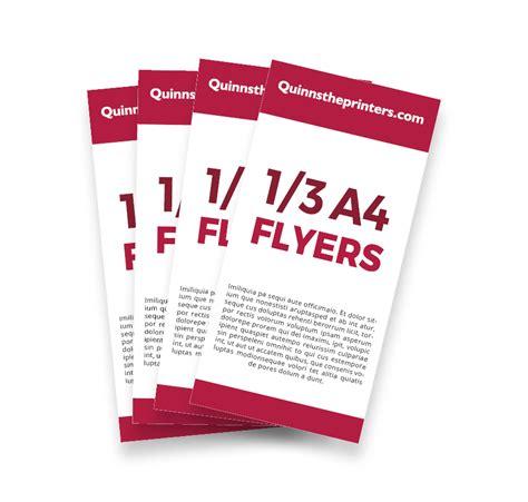 cheap 1x3 a4 flyer printing for trade quinnstheprinters com