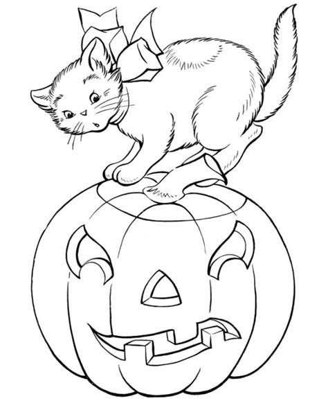 halloween coloring pages with cats halloween coloring pages cat and pumpkin coloring pages