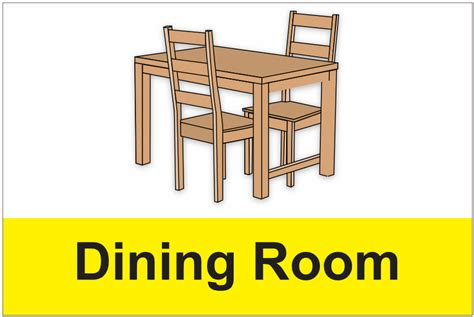 Dining Room Signs by Dementia Dining Room Sign