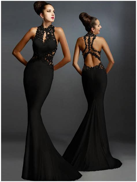 best black dress best sleeveless mermaid formal black dress