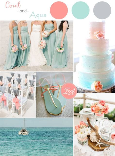 top 5 wedding color ideas for summer 2015 aqua coral and