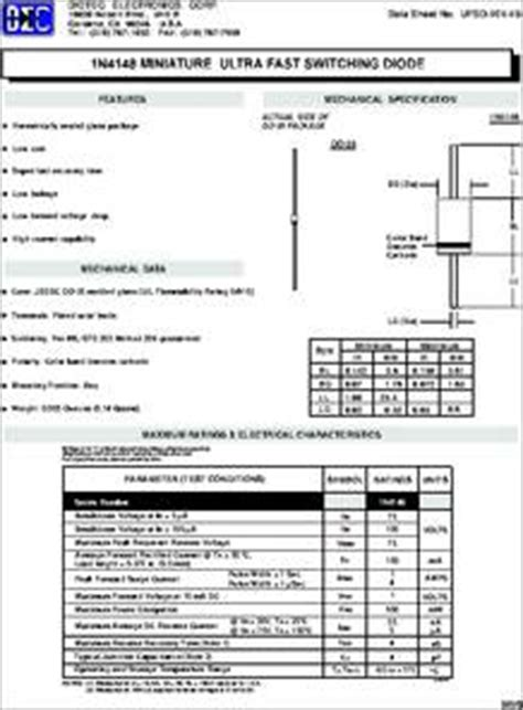 diode package types pdf dioda 1n4148 datasheet 28 images 1n4148 datasheet silicon switching diode do 35 glass